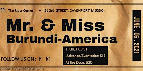 Mr. & Miss Burundi-America 2021 tickets