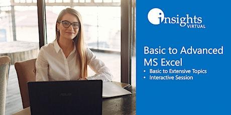 Basic to Advanced MS Excel Training (Webinar) tickets