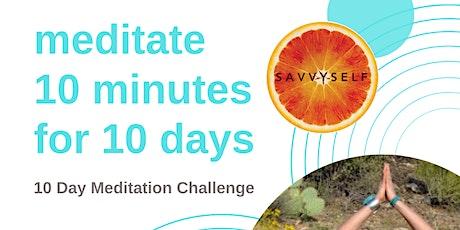 S A V V Y S E L F  10 Day Meditation Challenge tickets