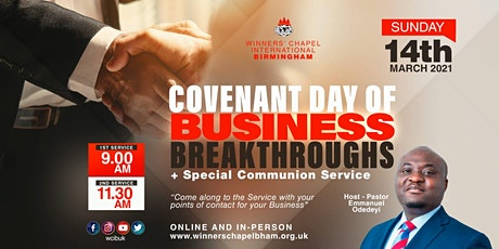 COVENANT DAY OF BUSINESS BREAKTHROUGH 1ST SERVICE tickets