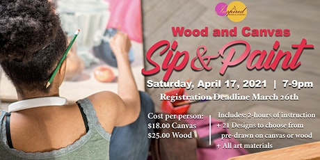 Inspired Women: Canvas and Wood Sip & Paint Tickets