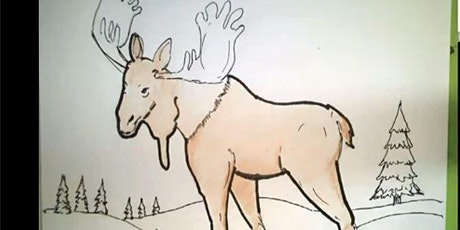Moose art workshop for kids and adults tickets
