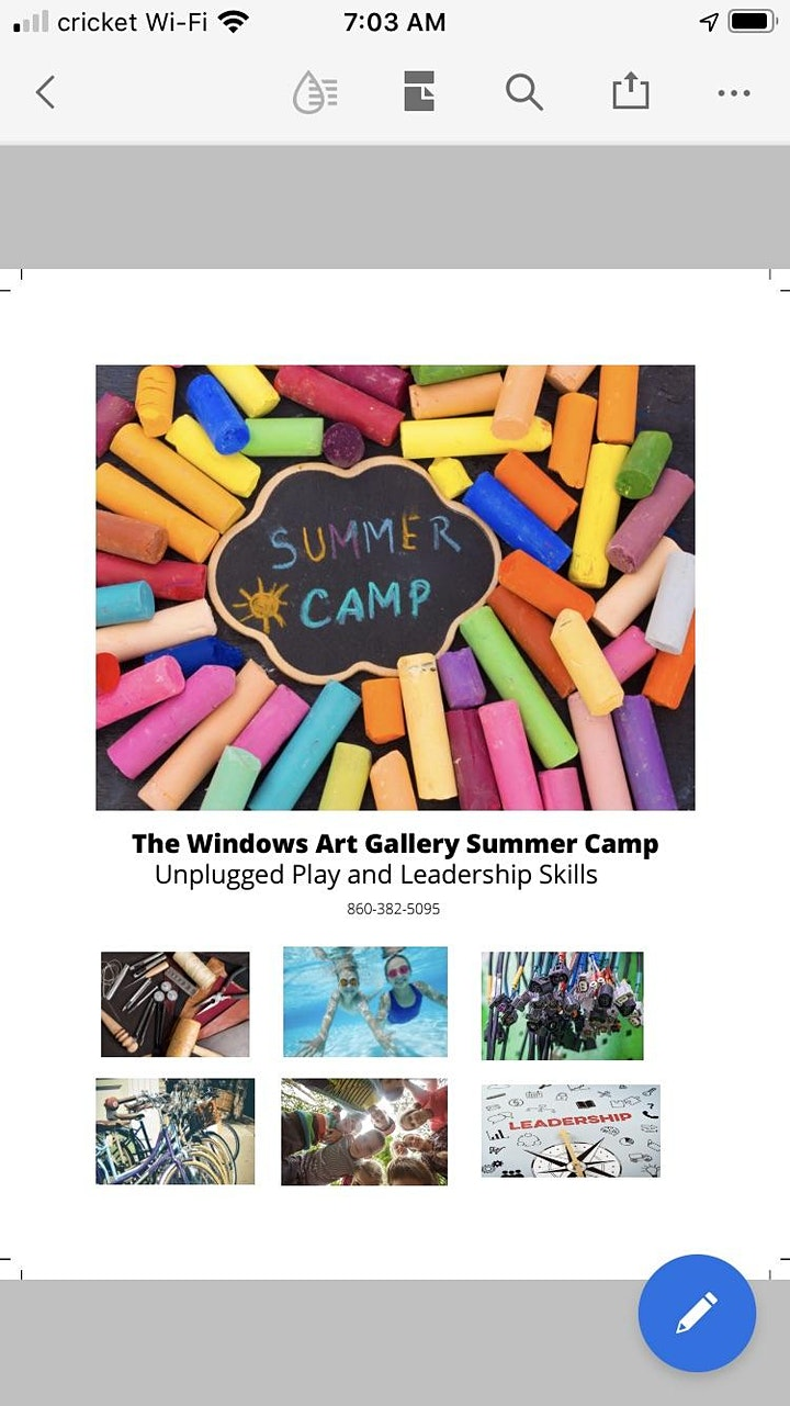 Kids Camp 2021 @ The Windows Art Gallery image