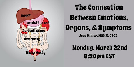 The Connection Between Organs, Emotions, and Symptoms Virtual Workshop tickets