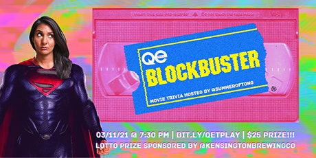 QE Trivia 048: Blockbuster Movie Trivia (Pop Culture Virtual Pub Quiz) tickets