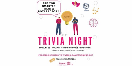 Are You Smarter Than a Rotaractor: Virtual Trivia Night tickets