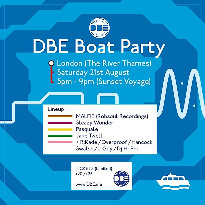 DBE London Boat Party / Saturday 21st August image