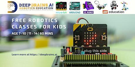 FREE Online Robotics Classes for Kids Age 7-14 | DeepBrains.AI tickets