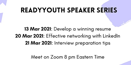 ReadyYouth Speakers' Series tickets