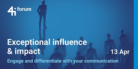 4iforum: Exceptional Influence & Impact (April 2021) tickets