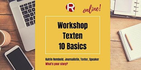 Online: Texten - 10 professionelle Basics Tickets
