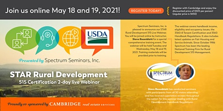 S.T.A.R.  Rural Development 515 Certification Seminar tickets