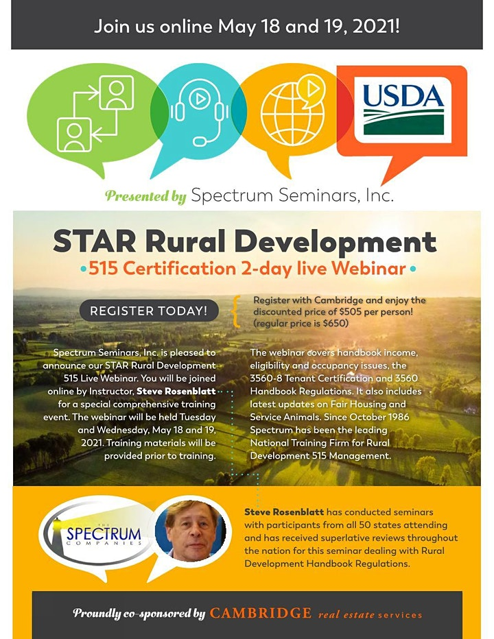 S.T.A.R.  Rural Development 515 Certification Seminar image