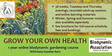 1 Year Online Biodynamic Gardening Course tickets