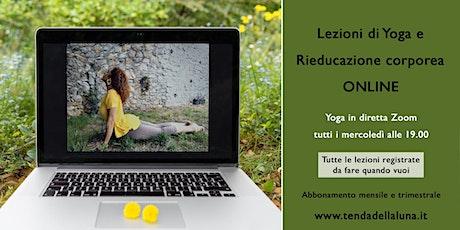 Lezioni online di Yoga e Rieducazione corporea - mensile biglietti