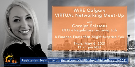 Virtual Networking Meet-Up w WiRE Calgary: 8 Surprising Finance Facts tickets