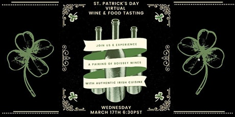 St Patrick's Day Wine & Food Virtual Tasting Experience tickets