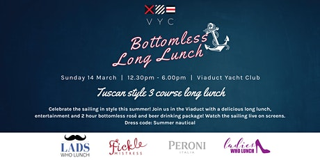 Bottomless Long Lunch - Watch the sailing! tickets