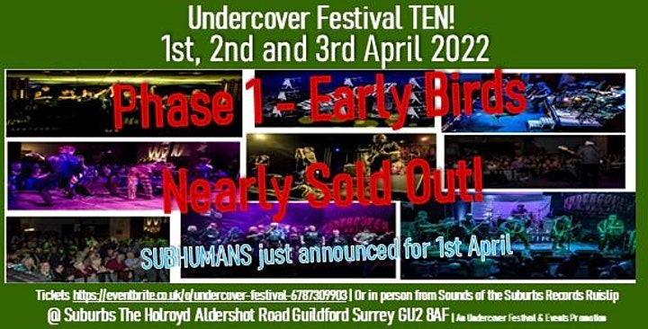 NEW DATE Suburbs TheHolroyd Goes Undercover 21 &  22 May XSLF Menace +++ image