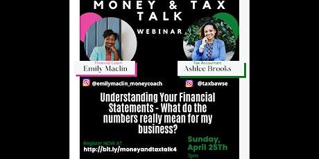 Money & Tax Talk Series: Understanding Your Financial Statements tickets