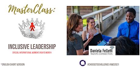 MasterClass - Inclusive Leadership   English tickets