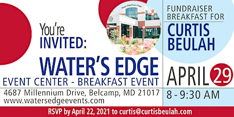 Councilman Beulah 2021 Fundraiser Breakfast at Water's Edge tickets
