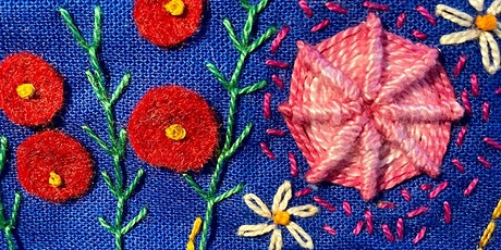 Beginners Embroidery Sampler tickets