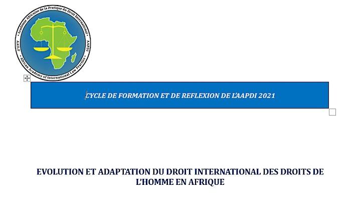 Image pour EVOLUTION ET ADAPTATION DU  SYSTEME AFRICAIN DES DROITS DE L'HOMME