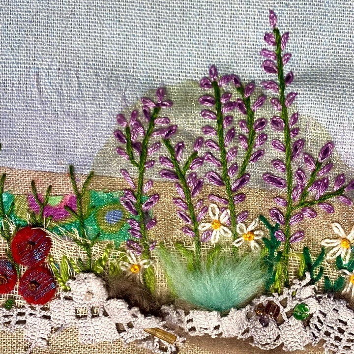 Texture and Layers in Embroidery image