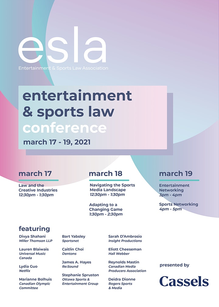 23rd Annual Osgoode Entertainment and Sports Law Conference image
