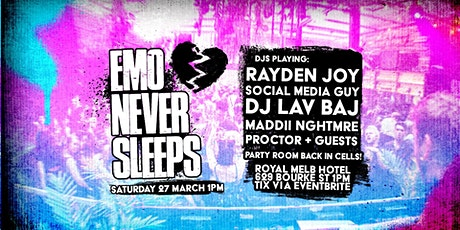 Emo Never Sleeps // March 27th - Day Party tickets