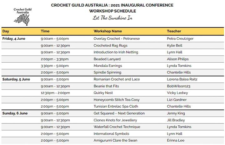 Crochet Guild Australia Inaugural Conference image