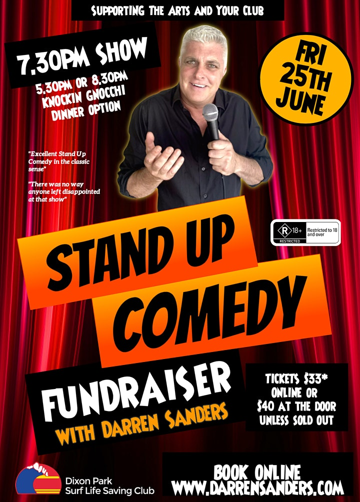 Comedy Fundraiser at Dixon Park SLSC with Darren Sanders image