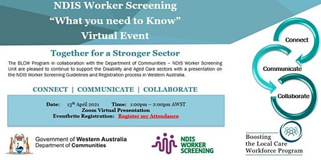 "NDIS Worker Screening  ""What you need to know"" tickets"
