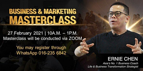 Business & Marketing Masterclass tickets