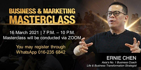 Business & Marketing Masterclass tickets