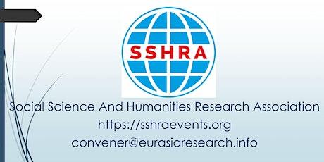 Rome – International Conference on Social Science & Humanities (ICSSH), 13- biglietti