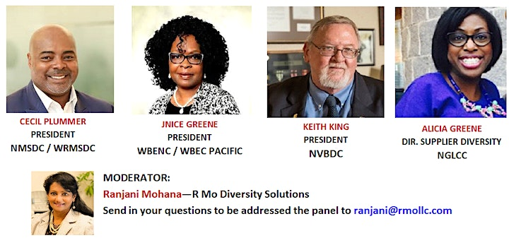 PANEL DISCUSSION - DIVERSITY CERTIFICATIONS - MERITS & BENEFITS image
