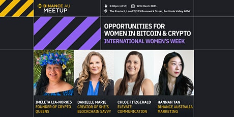 MEETUP: Binance Australia - Opportunities for Women in Bitcoin & Crypto tickets