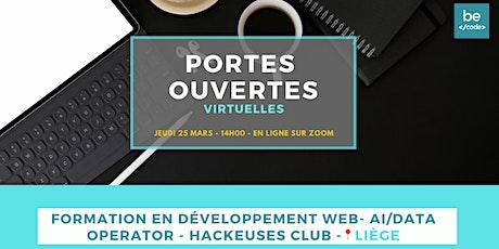 BeCode Liège - Portes ouvertes virtuelles billets