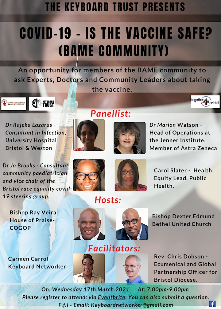 Covid-19 – Is the Vaccine Safe? (BAME  Community) image