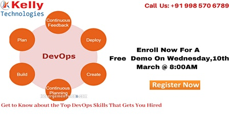 Devops free Demo On  Wednesday 10th March 2021 @ 8 AM ,In Hyderabad tickets