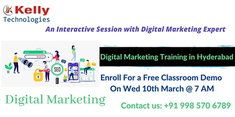 Digital Marketing Free Demo Session On This, Wed 10th March @ 7 AM in Hyd. tickets