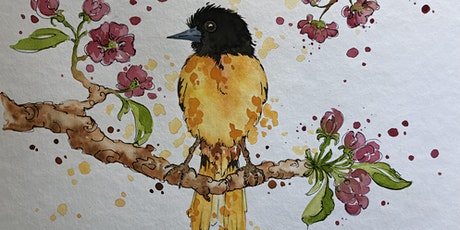 Online Watercolour Art Class -  Little Bird tickets