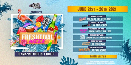 FRESHTIVAL WEEK - 1 TICKET , 6 NIGHTS - SOLD OUT tickets