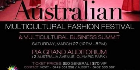 Australian Multicultural Fashion Festival tickets