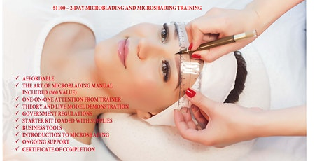 Microblading & Microshading Training and Certificate tickets