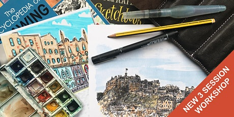 Urban sketching with Cassandra and Mark - 3 sessions: Sketch to Collage tickets