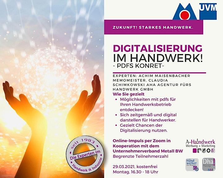 Digitalisierung im Handwerk - pdfs erstellen: Bild