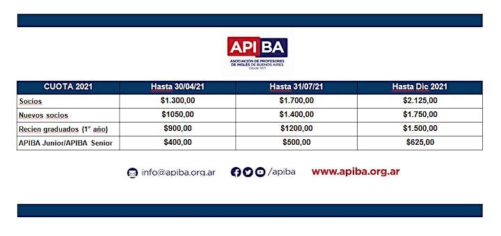 Imagen de APIBA CUOTA ANUAL 2021